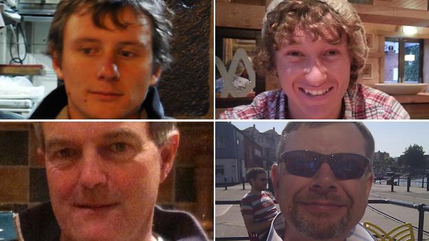 (clockwise from top left) Andrew Bridge, James Male, Steve Warren, Paul Goslin