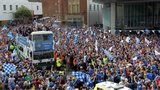 Thousands of people have lined the streets of Perth to celebrate St Johnstone's Scottish Cup victory