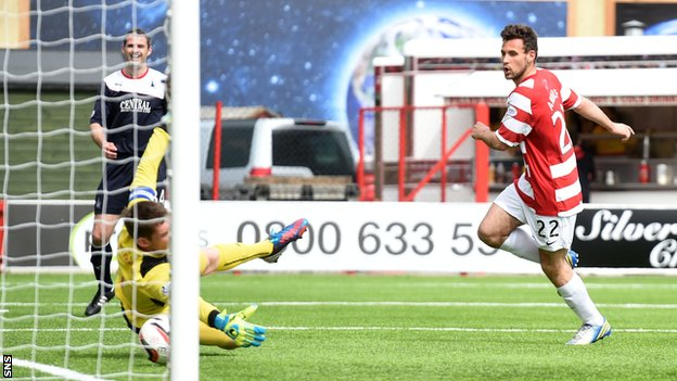 Tony Andreu grabs the all-important goal for Hamilton