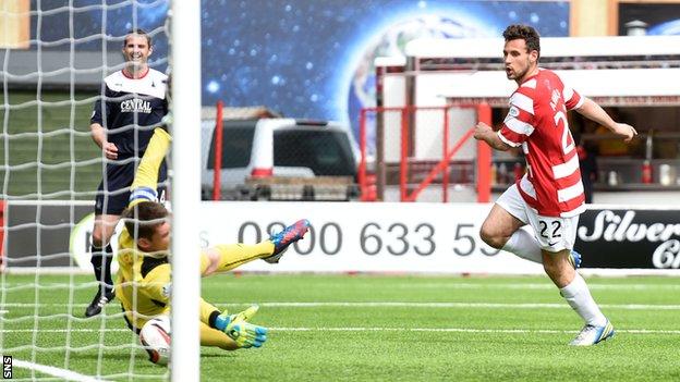 Tony Andreu grabs the all-important goal for Hamilton