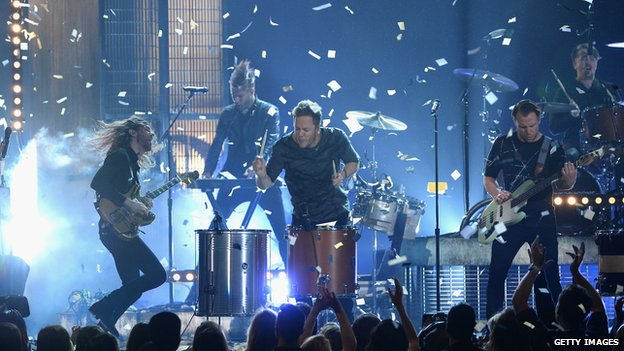 Imagine Dragons perform at the Billboard Music Awards