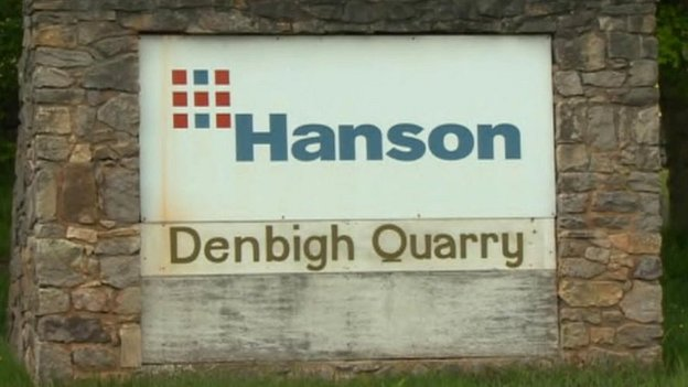 Hanson Denbigh Quarry sign