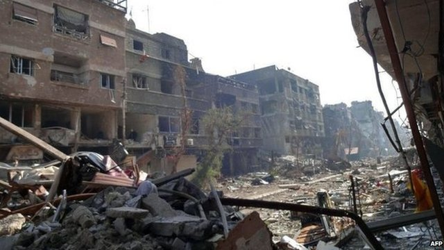 Yarmouk refugee camp (21 January 2014)