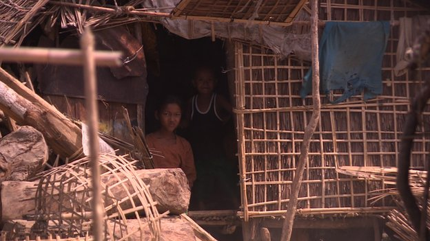 Rohingya camp in Rakhine state