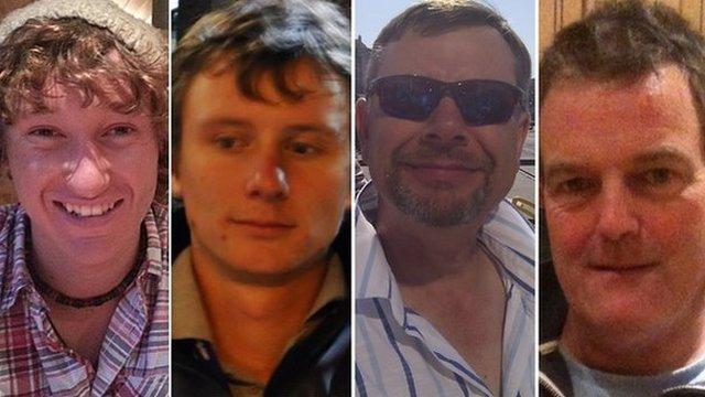 James Male, Andrew Bridge, Steve Warren and Paul Goslin (l-r) are all experienced yachtsmen