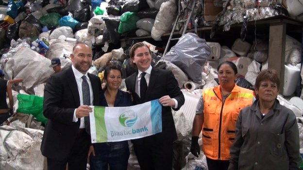Plastic Bank founders in Bogota, Colombia