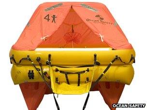 4-person life raft