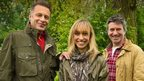 Springwatch presenters from left to right; Chris Packham, Michaela Strachan, Martin Hughes-Games
