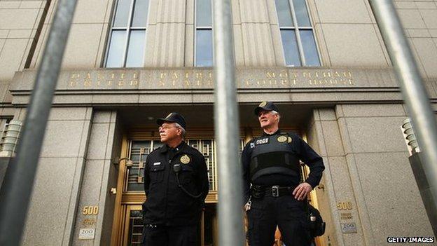 The New York court where Hamza was tried