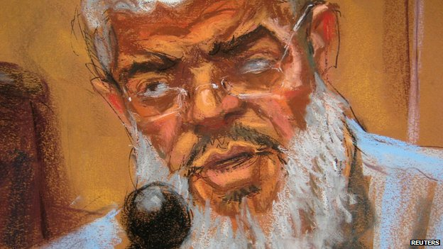 Abu Hamza in court sketch