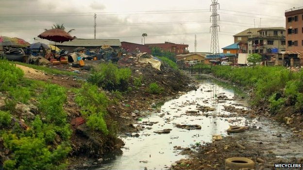 Lagos open drain