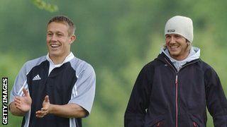 Jonny Wilkinson and David Beckham