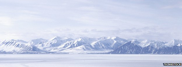 ice-covered mountains