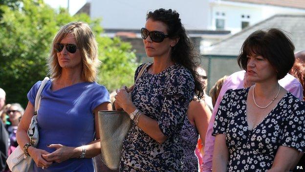 Annabel Croft at Elena Baltacha's funeral