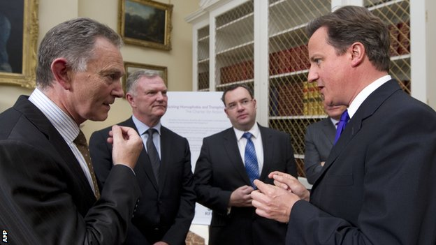 Richard Scudamore and David Cameron