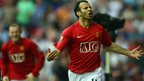 Ryan Giggs scores for Manchester United against Wigan Athletic during the 2007-08 season
