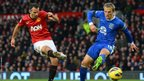 Ryan Giggs scores for Manchester United against Everton during 2012-13 season