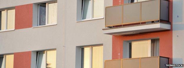 pre-fabricated block of flats