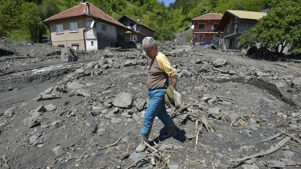 Landslide in Topcic Polje, near the Bosnian town of Zenica. 19 May 2014