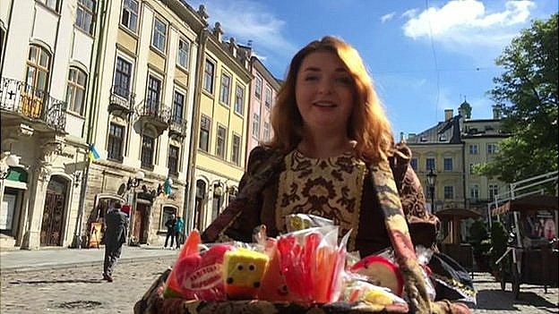Street vendor in Lviv