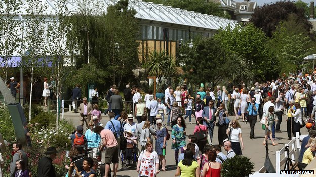 Crowds at Chelsea Flower Show