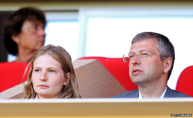 Dmitry Rybolovlev and his daughter Ekaterina watch AS Monaco against FC Lorient - 15 September 2013