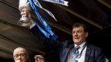 Tommy Wright with the Scottish Cup