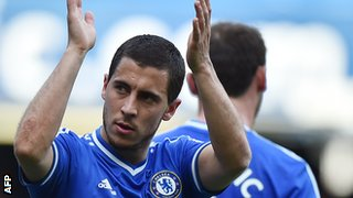 Eden Hazard has scored 23 goals in 69 Premier League appearances for Chelsea.