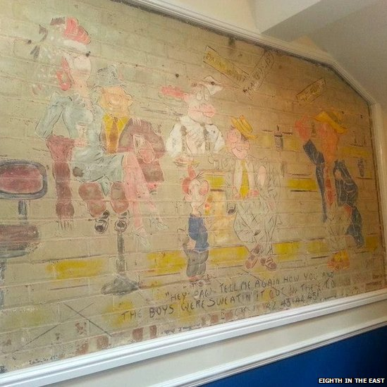 USAAF mural from Shipdham airfield
