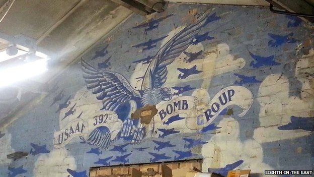USAAF mural from Hethel