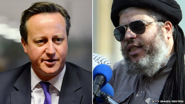 David Cameron and Abu Hamza