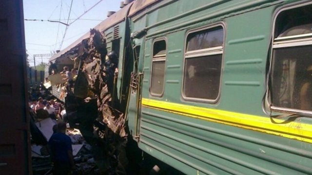 Damaged train