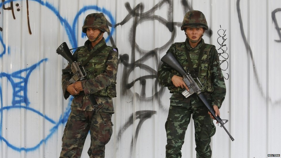 Soldiers in Bangkok (20 May 2014)