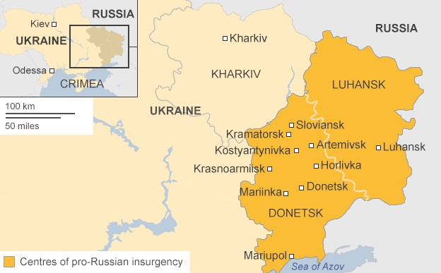 Map: Donetsk & Luhansk