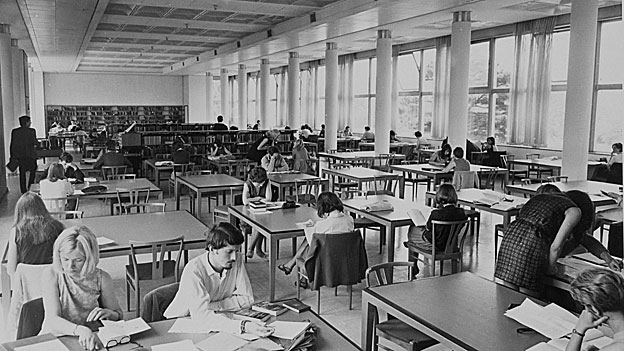 University of Reading library in 1960s