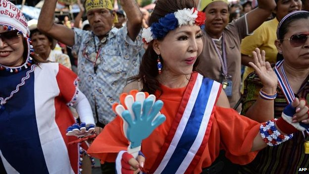 Anti-government protesters in Bangkok (20 May 2014)