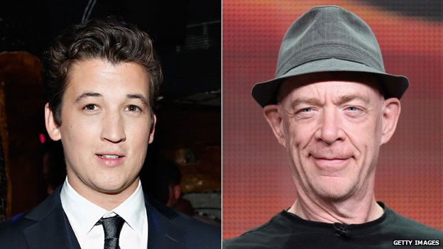 Miles Teller and JK Simmons