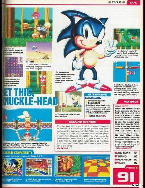 CVG Sonic 3 coverage