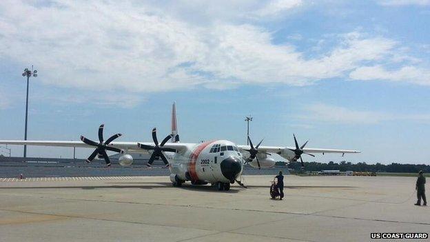 HC-130 Hercules on the runway