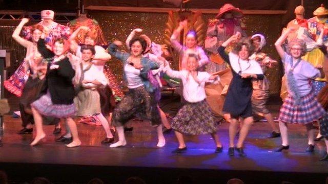 bbc news stage tribute to pantomime stalwart chris harris