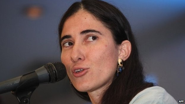 Cuban dissident Yoani Sanchez, 15 May 14