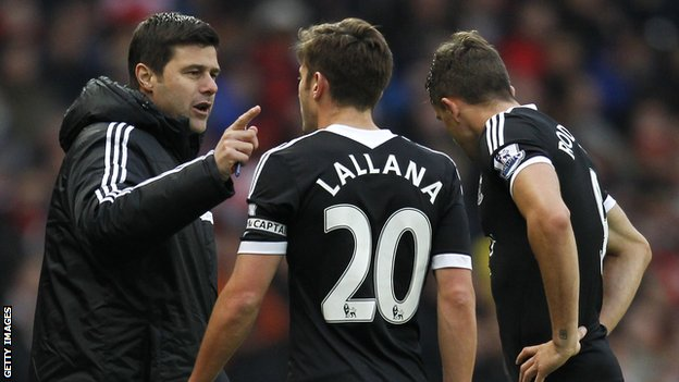 Mauricio Pochettino, Adam Lallana and Jay Rodriguez