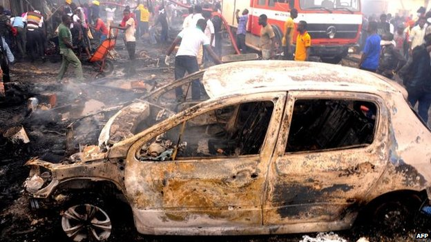 Bomb blast in Jos, Nigeria, 20 May