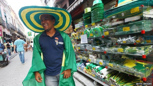 World Cup street seller in Brazil