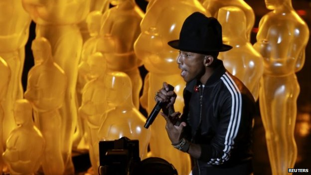 Pharrell Williams at the Oscars