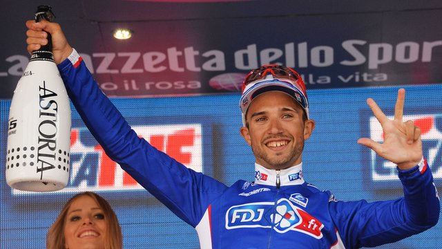 Nacer Bouhanni of France won his third stage