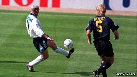 Paul Gascoigne in Euro 96