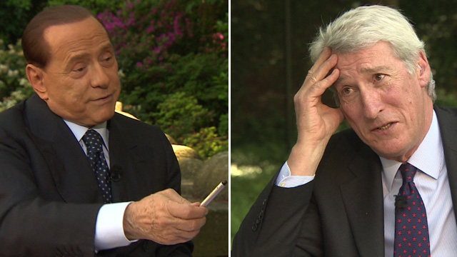 Silvio Berlusconi and Jeremy Paxman