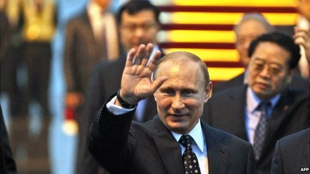 Mr Putin arrives in Shanghai