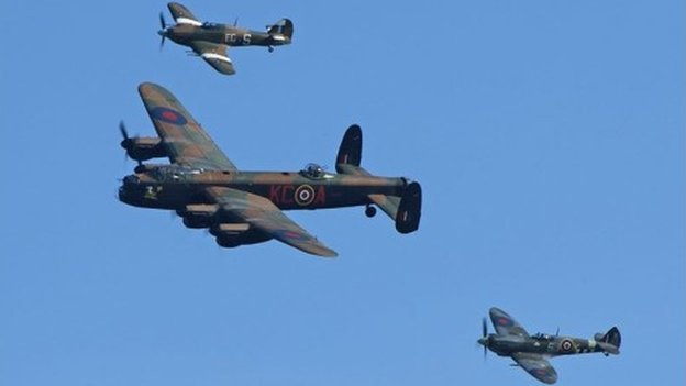 Spitfire, Hurricane and the Lancaster bomber will feature in the Airshow